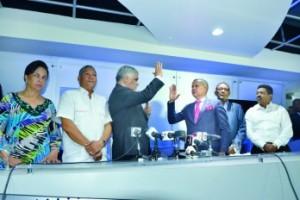 Juramentación del Diputado Ruddy González  nuevo vocero del PRD